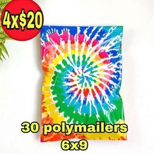 30 poly mailers tie dye print size 6x9